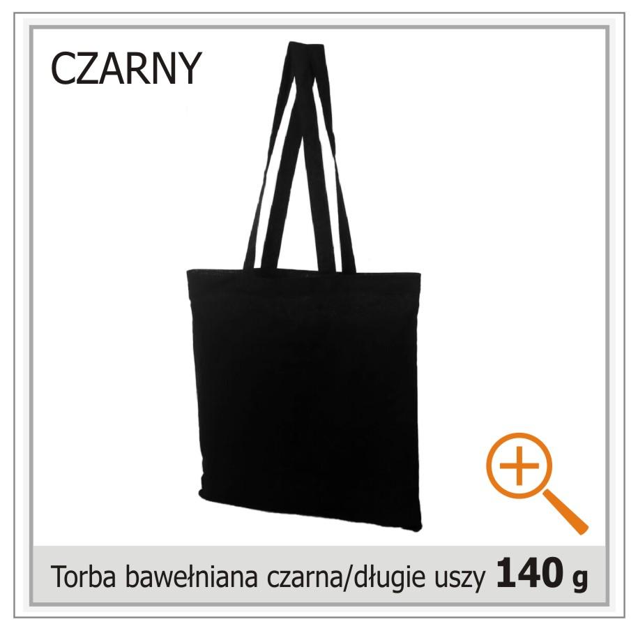 torba bawelniana czarna