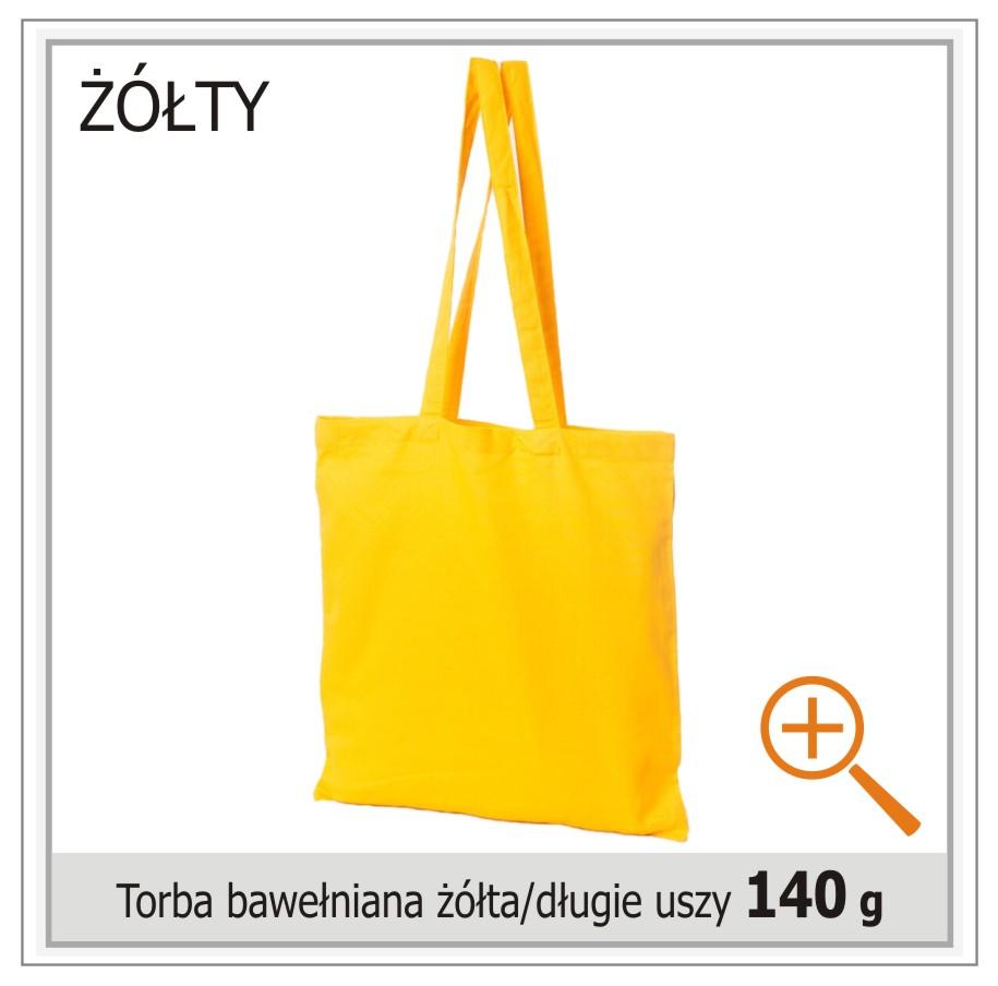 torba bawelniana zolta