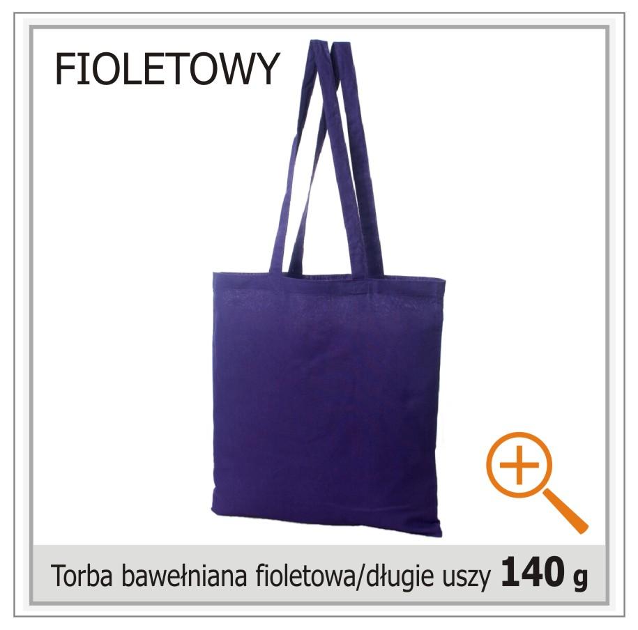 torba bawelniana fioletowa