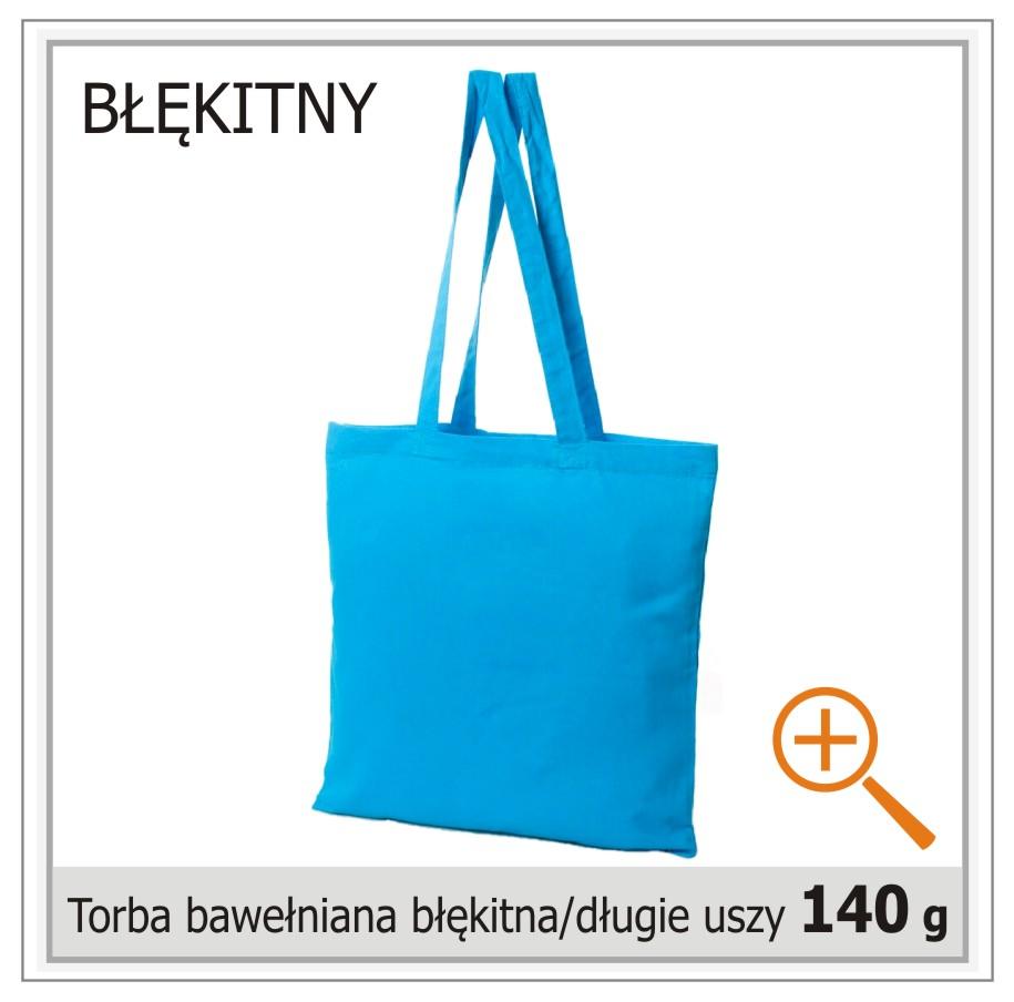 torba bawelniana błękitna