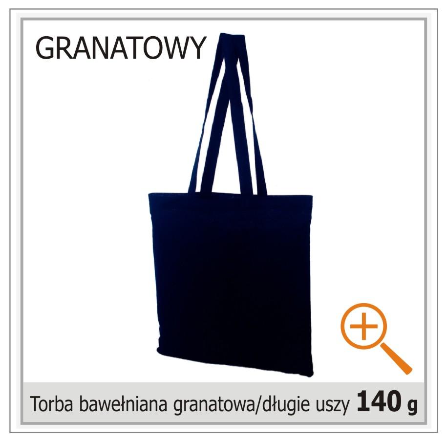 torba bawelniana granatowa