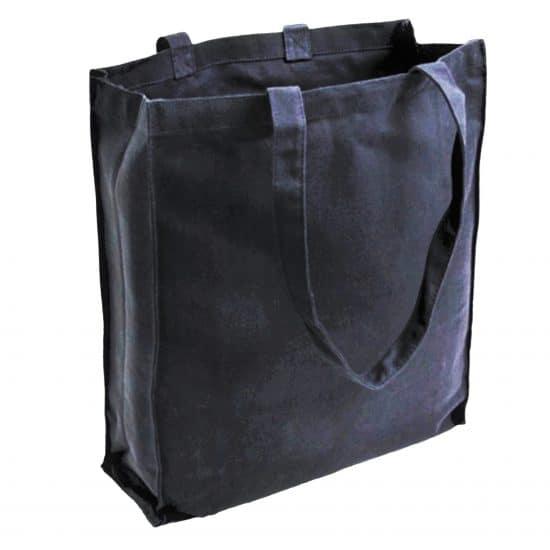torba bawełniana canvas czarna 220gr z długimi uszami