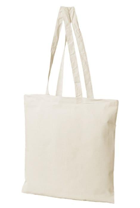 torba materiałowa bawełniana naturalna ecru 38x42 160gr długie ucho