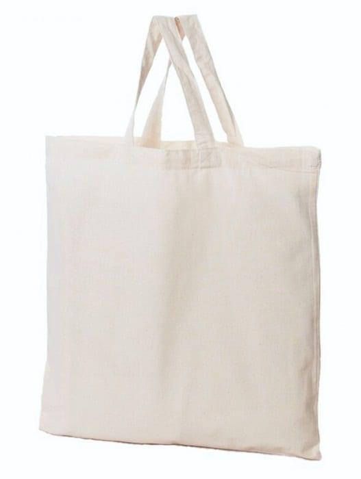 torba materiałowa bawełniana naturalna ecru 38x42 160gr krótkie ucho