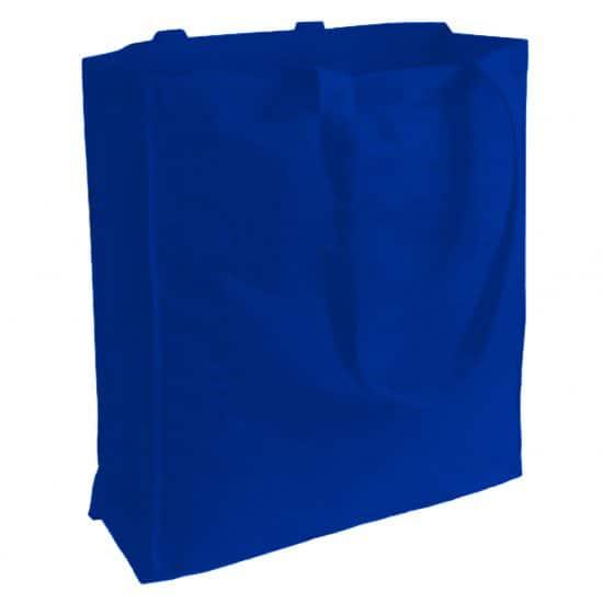 torba bawełniana canvas niebieska 220gr z długimi uszami