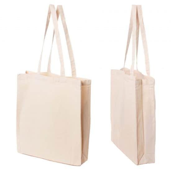Materiałowa torba bawełniana ecru 200gr 38x42 - 01