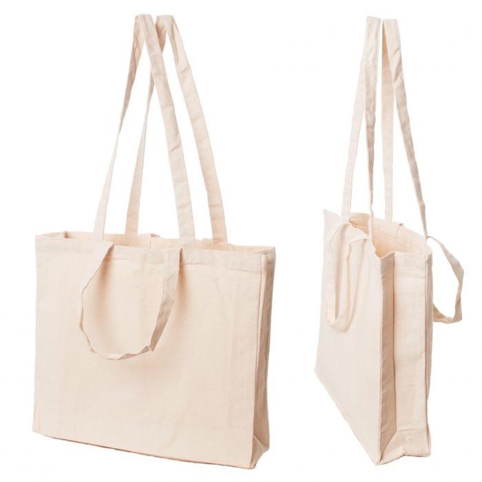 Materiałowa torba bawełniana ecru 380gr 42x38 - 05