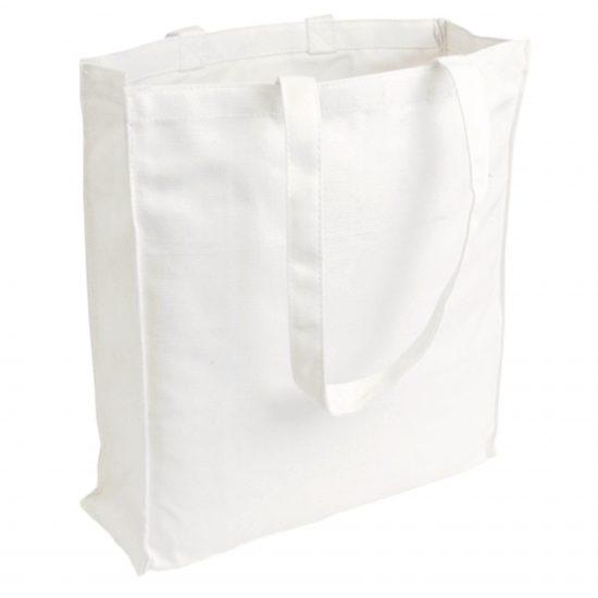 torba bawełniana canvas biała 220gr z długimi uszami