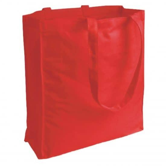 torba bawełniana canvas czerwona 220gr z długimi uszami