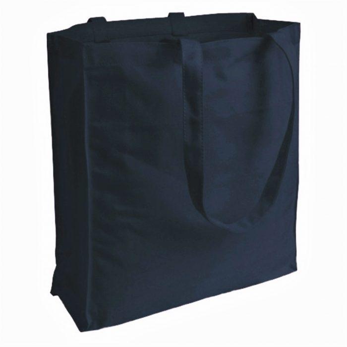 torba bawełniana canvas granatowa 220gr z długimi uszami