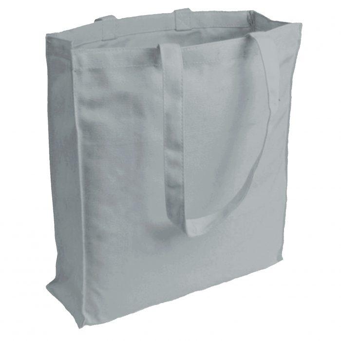 torba bawełniana canvas popielata 220gr z długimi uszami