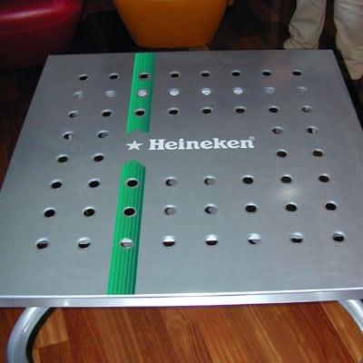 Sitodruk - druk na metalu aluminium heineken