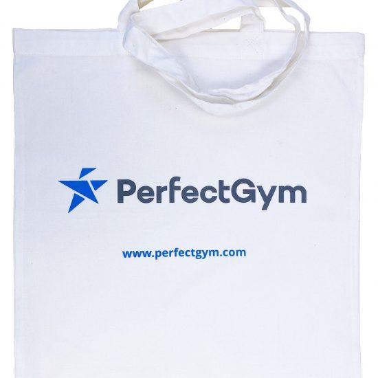 Białe torby bawełniane z nadrukiem 2 kolory sitodruk