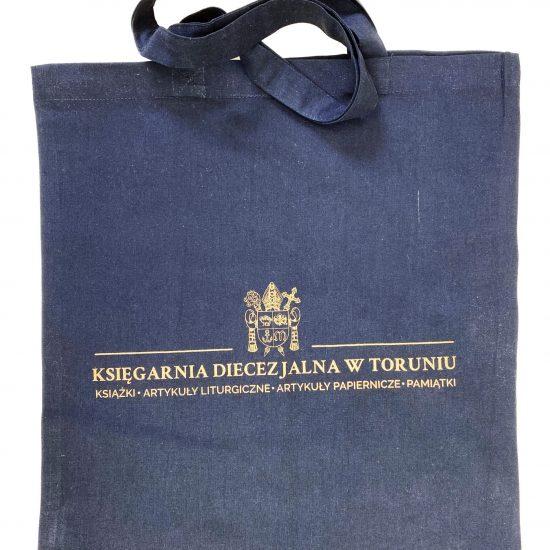 Czarne torby bawełniane ze złotym nadrukiem sitodruk