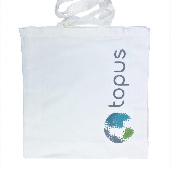 Ekologiczne torby bawełniane białe z nadrukiem DTG