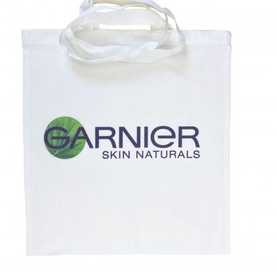 Ekologiczne torby materiałowe białe z nadrukiem DTG