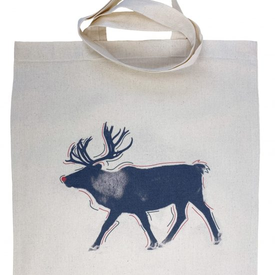 Materiałowe torby bawełniane z długimi uszami z nadrukiem DTG łoś
