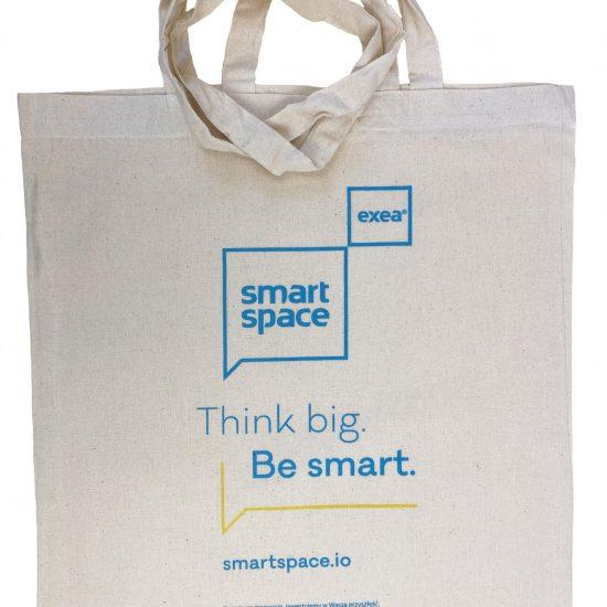 Materiałowe torby bawełniane z długimi uszami z nadrukiem DTG 2 kolory