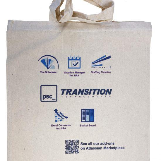 Materiałowe torby bawełniane z długimi uszami z nadrukiem DTG cała powierzchnia