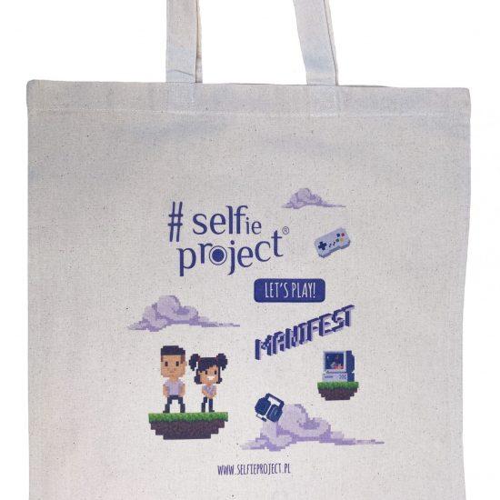 Materiałowe torby bawełniane z długimi uszami z nadrukiem DTG pełen kolor