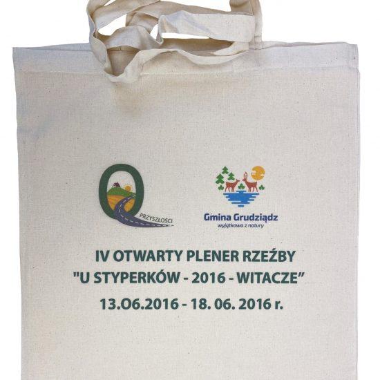 Materiałowe torby bawełniane z długimi uszami z nadrukiem DTG plener