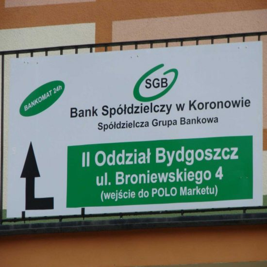 Tablica informacyjne reklamowa bank