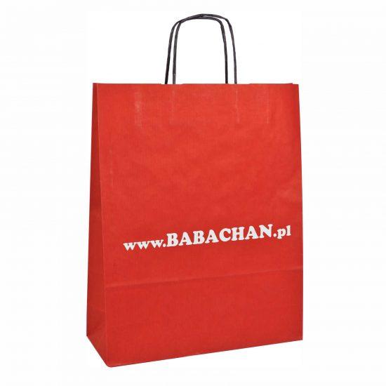 Torby papierowe z nadrukiem czerwona babachan