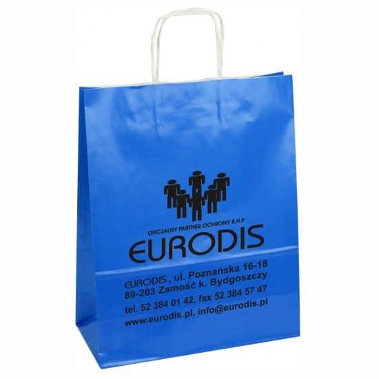 Torby papierowe z nadrukiem niebieskie eurodis
