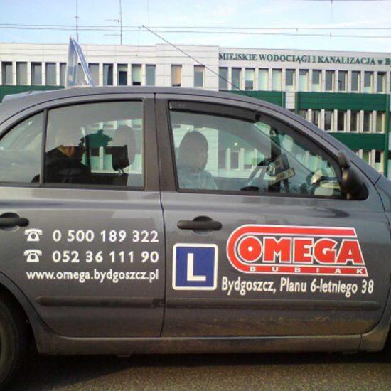 reklama na samochodach oklejanie omega