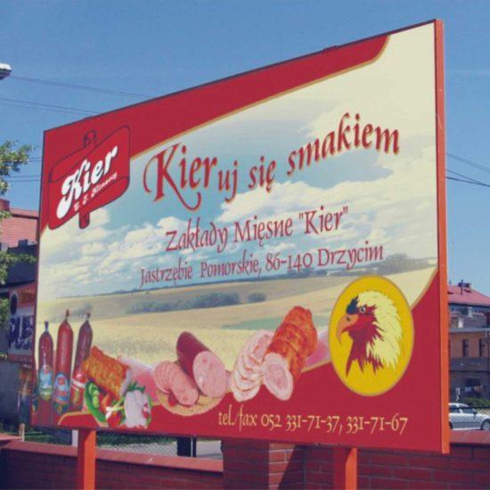 tablica reklamowa ze stelazem kier