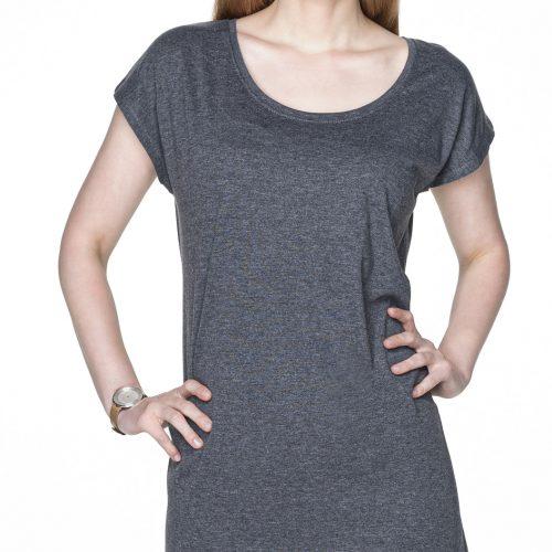 Sukienka tunika szara z własnym nadrukiem reklamowym