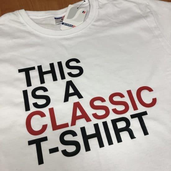 koszulki z nadrukiem classic tshirt czerwony