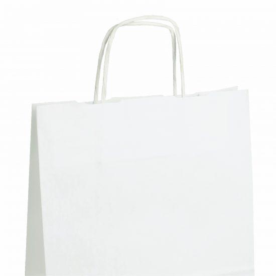 Torby papierowe białe z nadrukiem