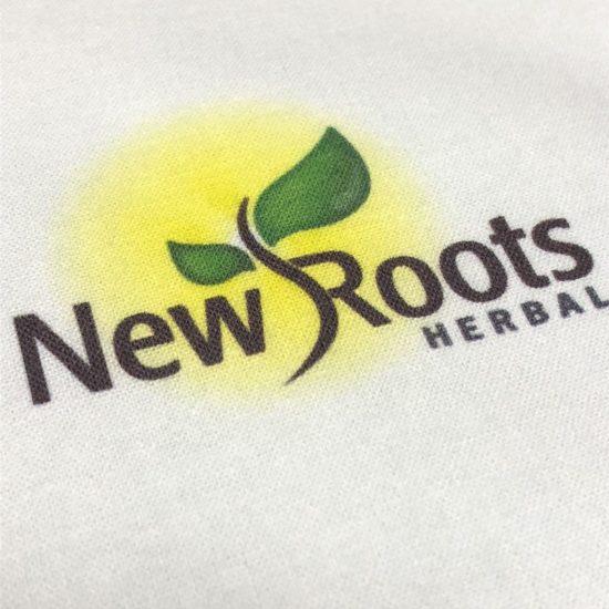 Nadruk DTG-na bawelnie New Roots
