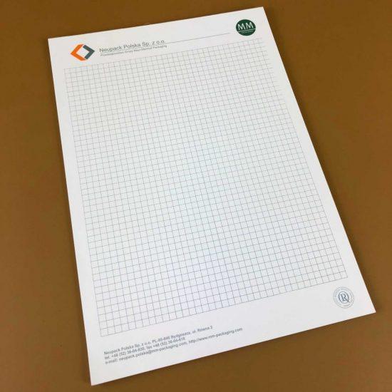 Notesy A6 reklamowe firmowe w kratke-bydgoszcz mm