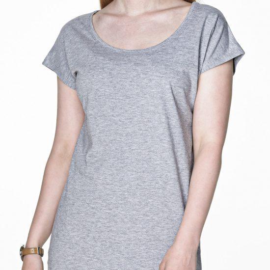 Sukienka tunika popielata z wlasnym nadrukiem reklamowym