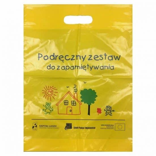 reklamowki torby z nadrukiem zolta