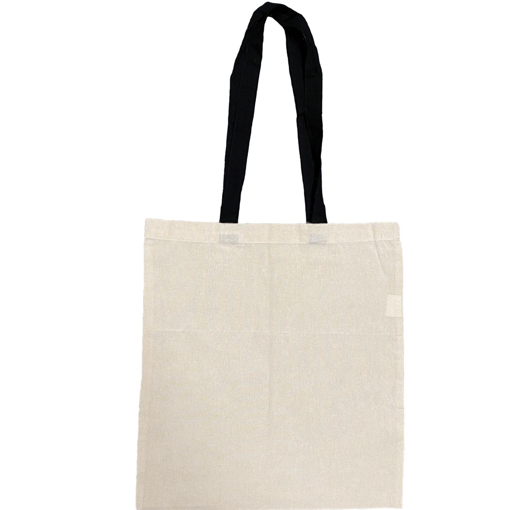 torba bawelniana ecru z czarnymi uszami