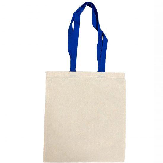 torba materialowa z niebieskimi uszami