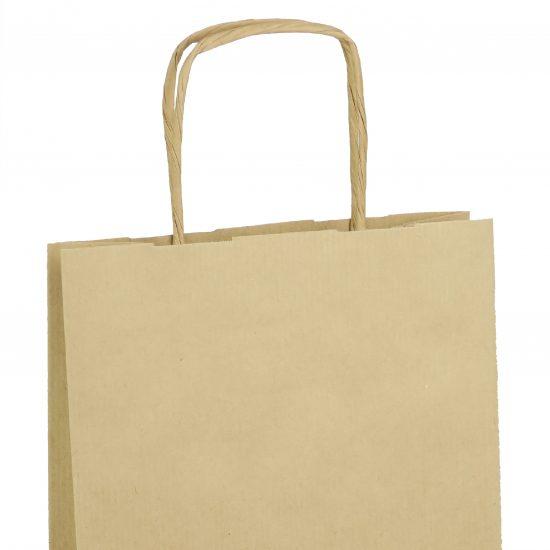 torba na wino eko brazowa papierowa 18x8x34