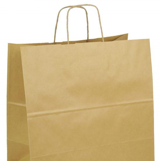 torba papierowa brazowa z nadrukiem 32cm x 16cm x 38cm