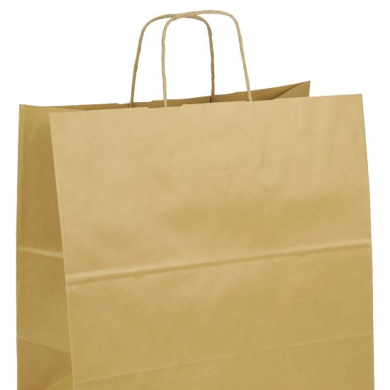 torba papierowa brazowa z nadrukiem 34cm x 20cm x 36cm