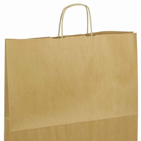 torba papierowa brazowa z nadrukiem 40cm x 14cm x 40cm