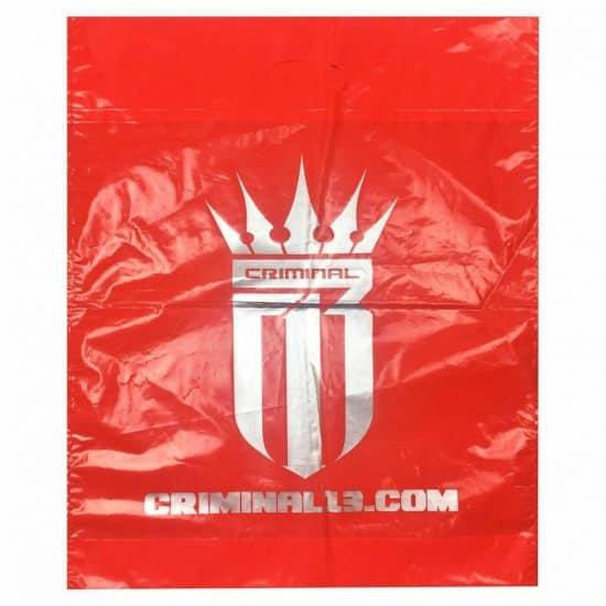 torby foliowe z nadrukiem czerwona criminal